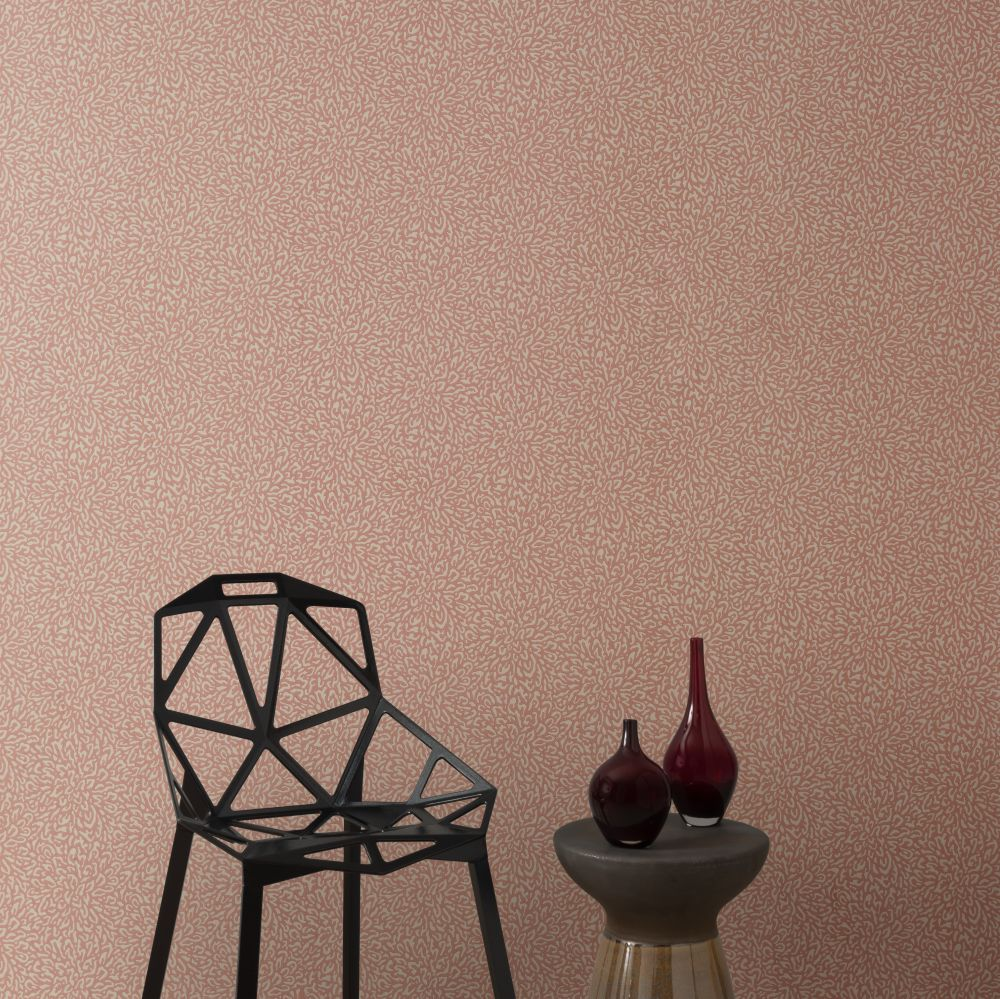 Corallo Wallpaper - Pink Stucco - by 1838 Wallcoverings