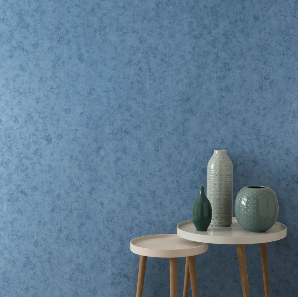 Fenton Wallpaper - Azure - by 1838 Wallcoverings
