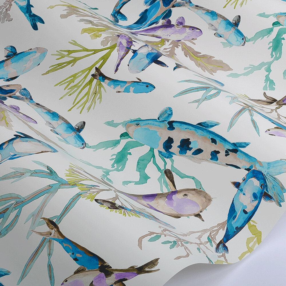 Salina Wallpaper - Turquoise  - by Manuel Canovas