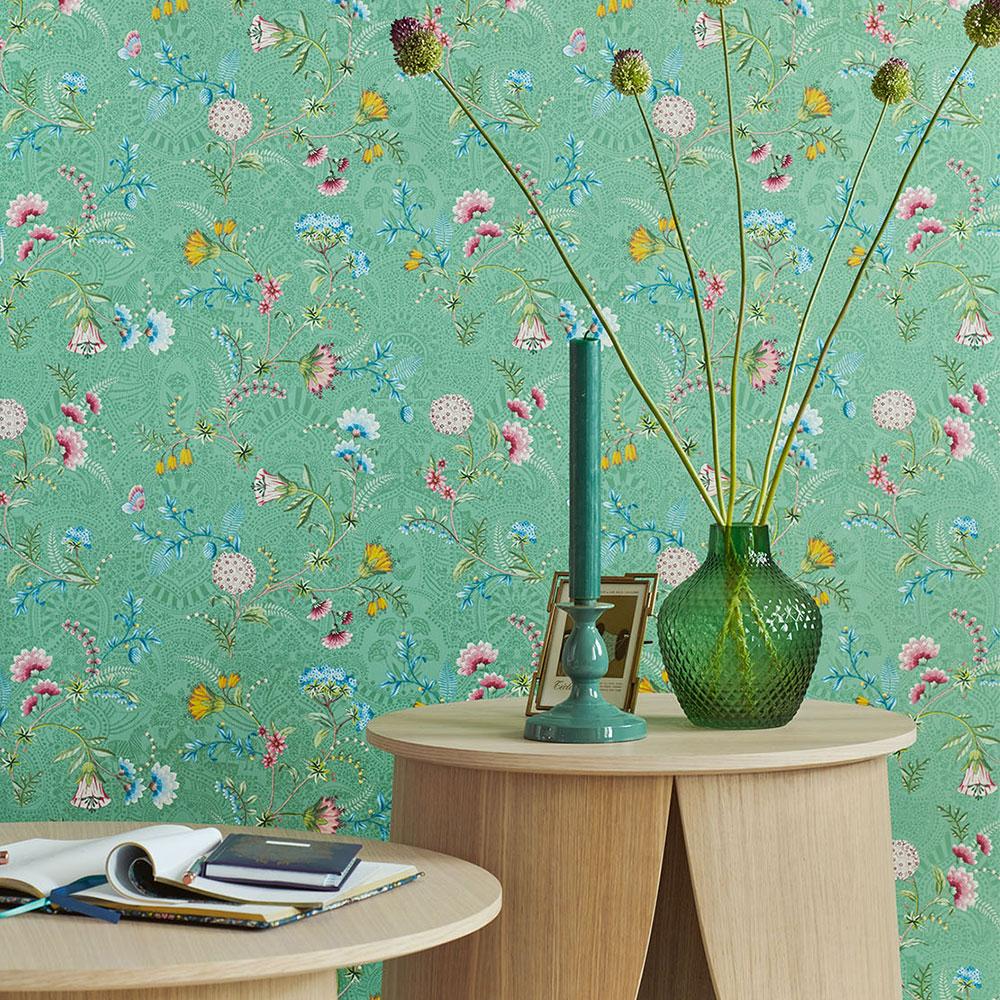 La Majorelle Wallpaper - Green - by Eijffinger