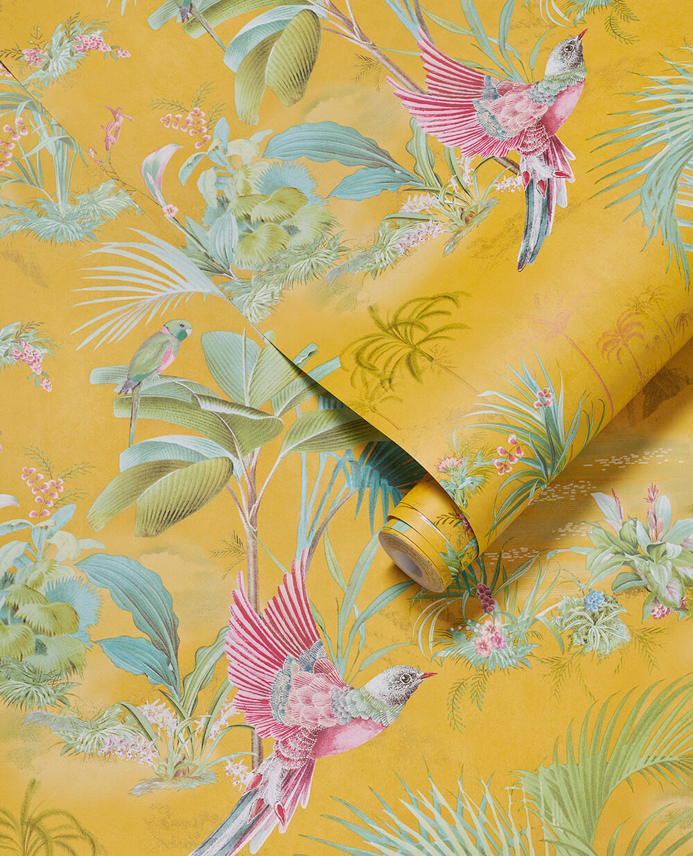 Eijffinger Palm Scene Yellow Wallpaper - Product code: 300143