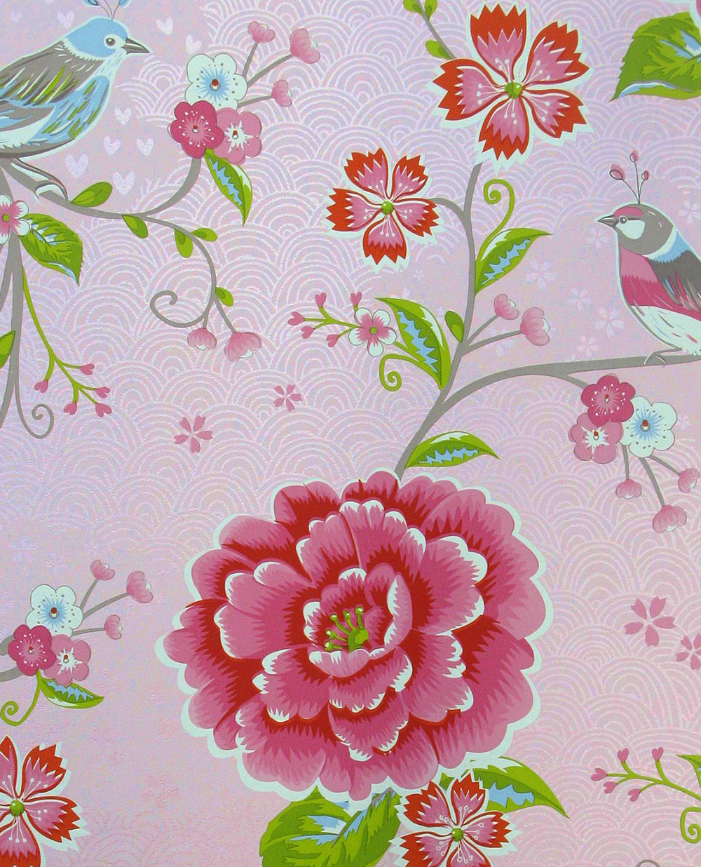 Birds in Paradise Wallpaper - Pink - by Eijffinger