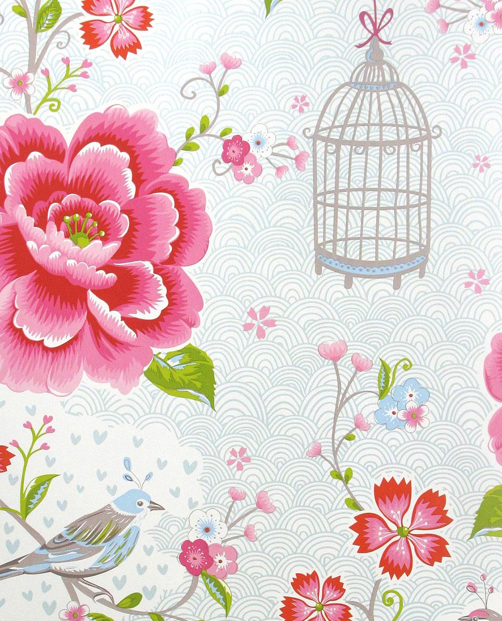 Birds in Paradise Wallpaper - White - by Eijffinger