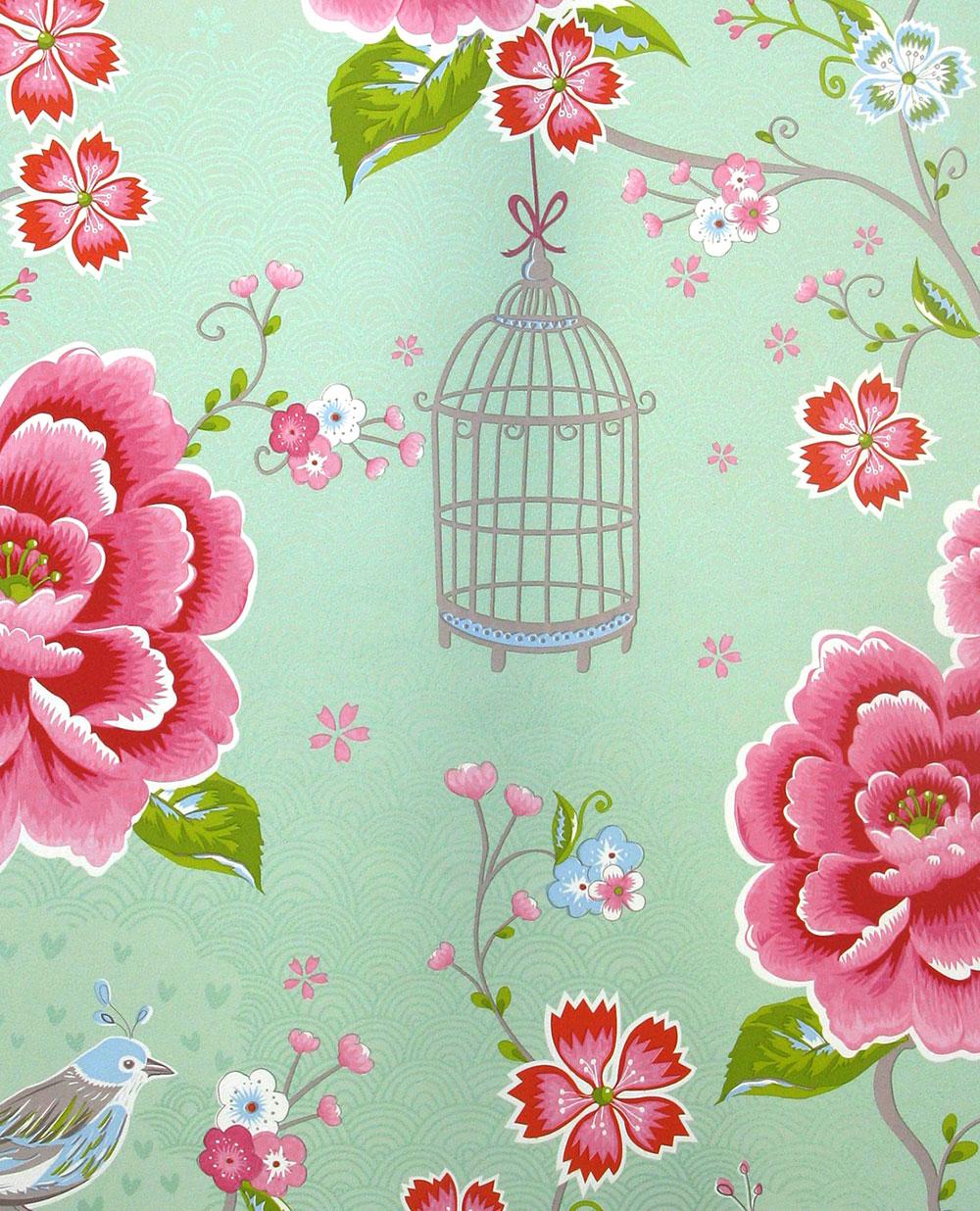 Birds in Paradise Wallpaper - Green - by Eijffinger
