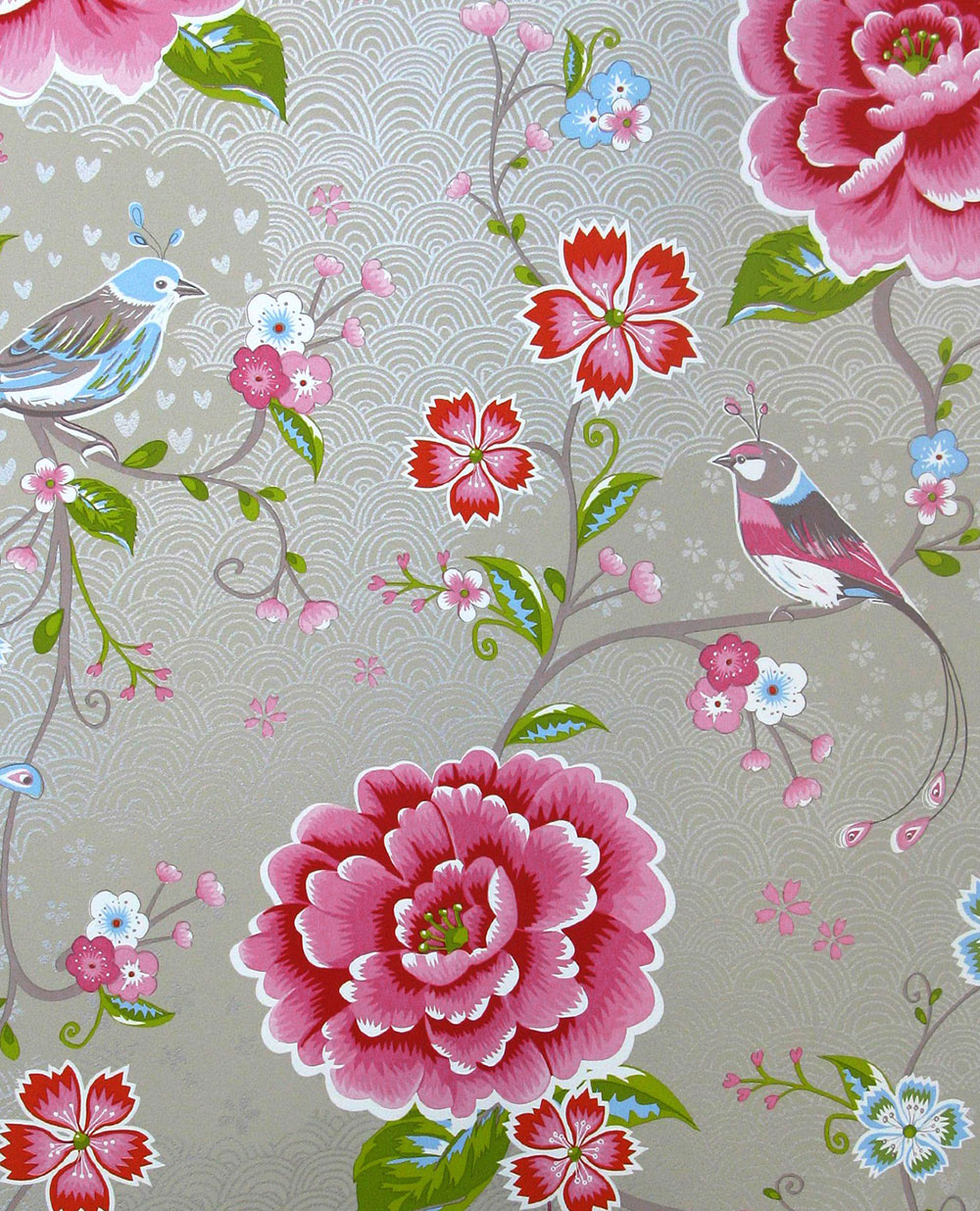 Birds in Paradise Wallpaper - Beige - by Eijffinger