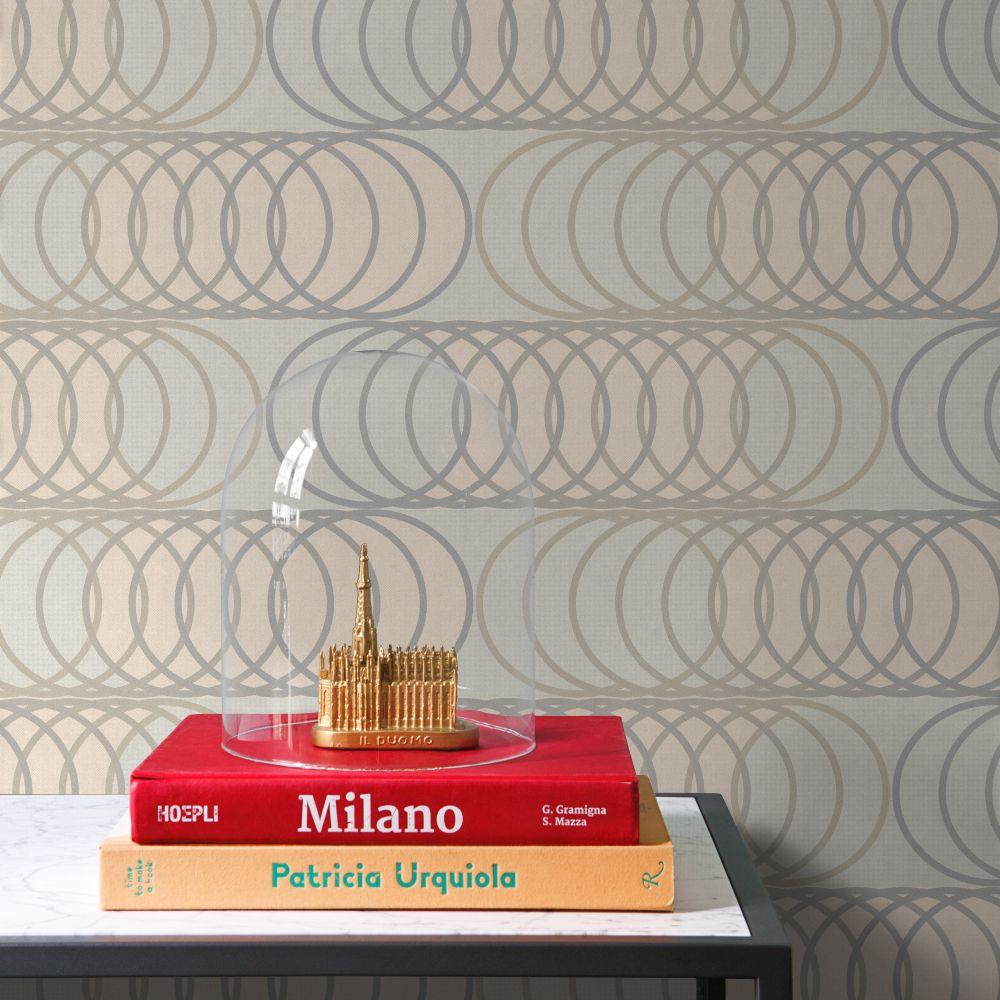 Tres Tintas Circles Taupe Wallpaper - Product code: 2906-2