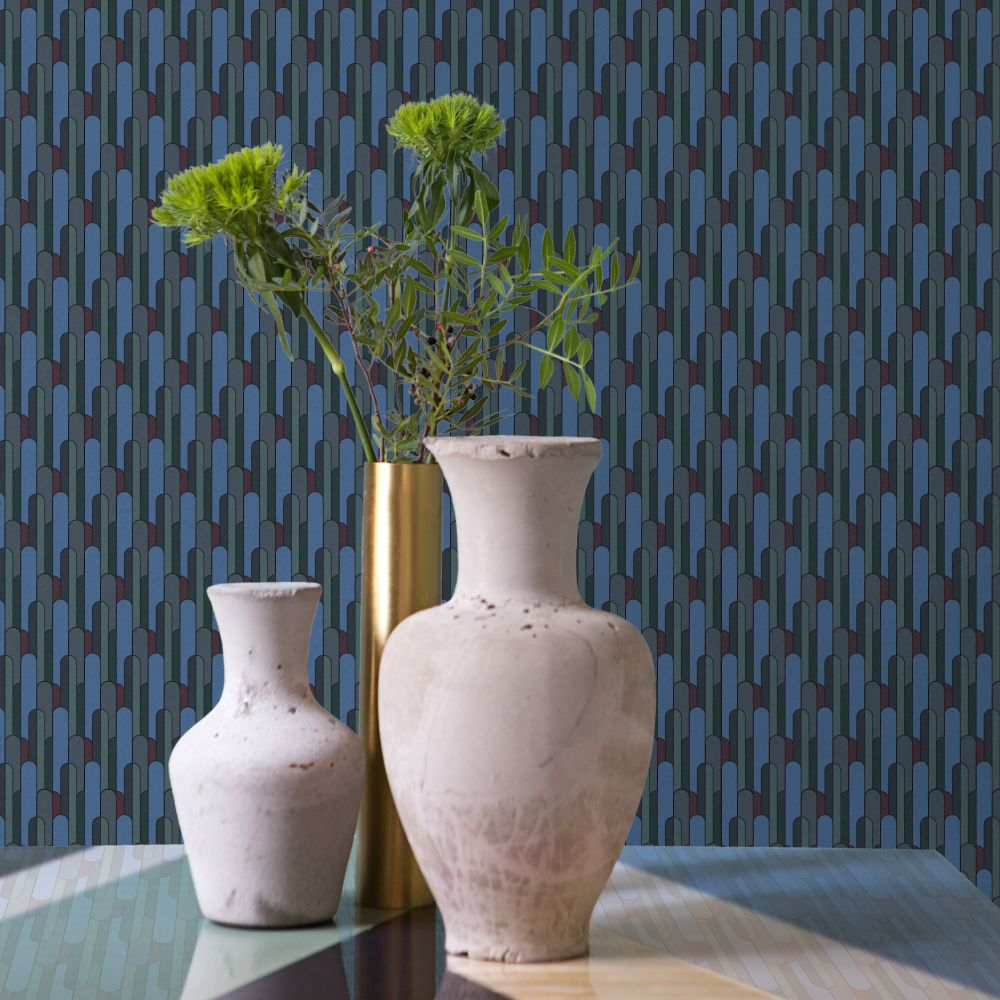 Deco Wallpaper - Aqua - by Tres Tintas