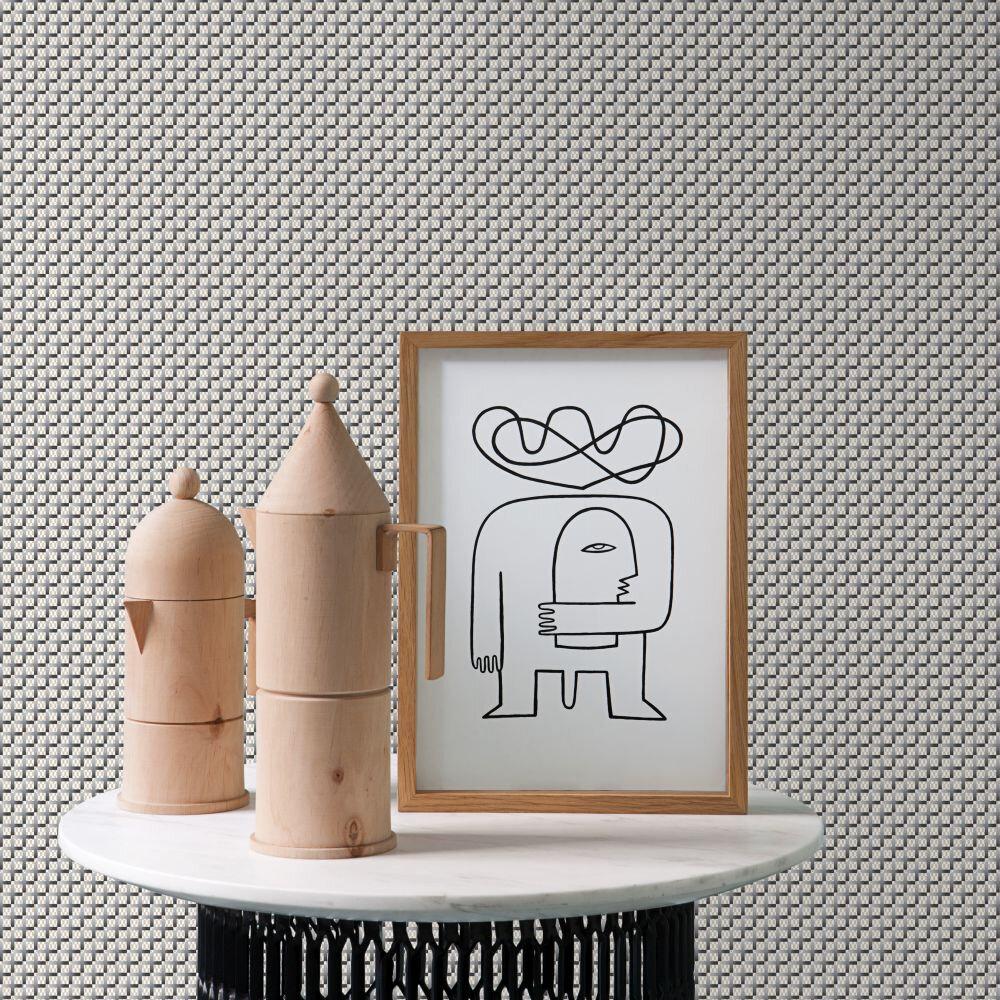 Crosses Wallpaper - Grey - by Tres Tintas