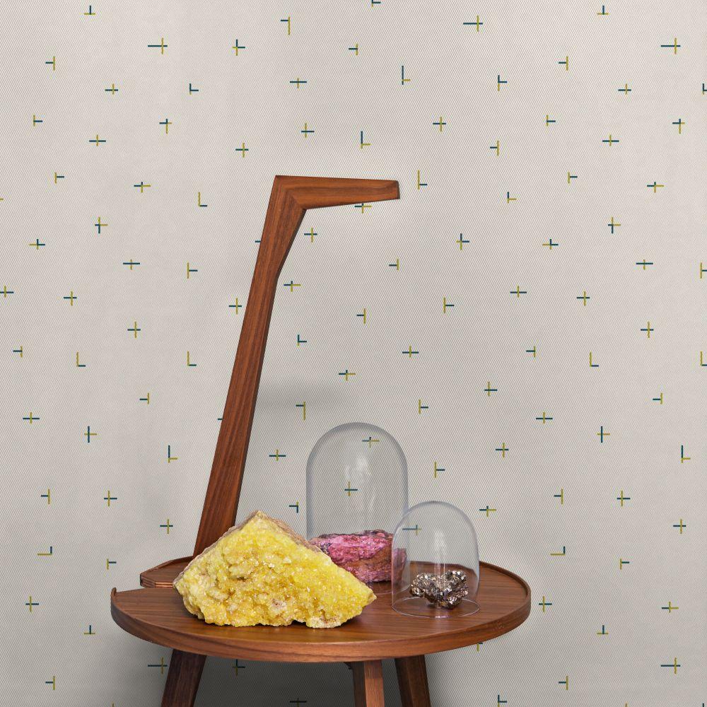 Tres Tintas Croci Beige / Mustard Wallpaper - Product code: 2909-5
