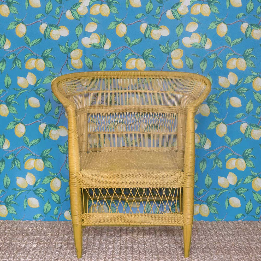 Barneby Gates Capri Lemons Azure Blue Wallpaper - Product code: BG2300101