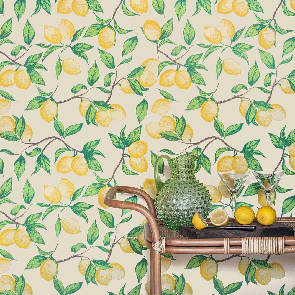 Capri Lemons Wallpaper - Natural - by Barneby Gates