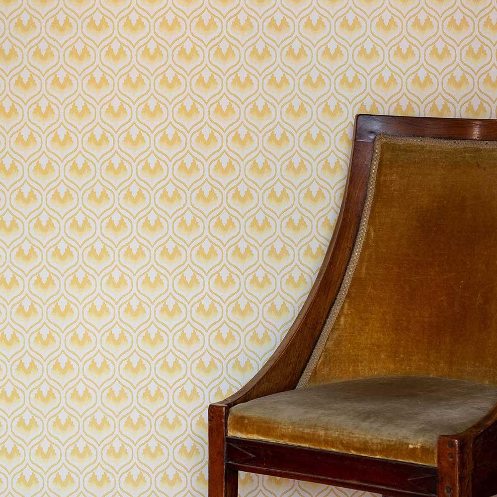 Barneby Gates Ikat Heart Mustard Wallpaper - Product code: BG2300202