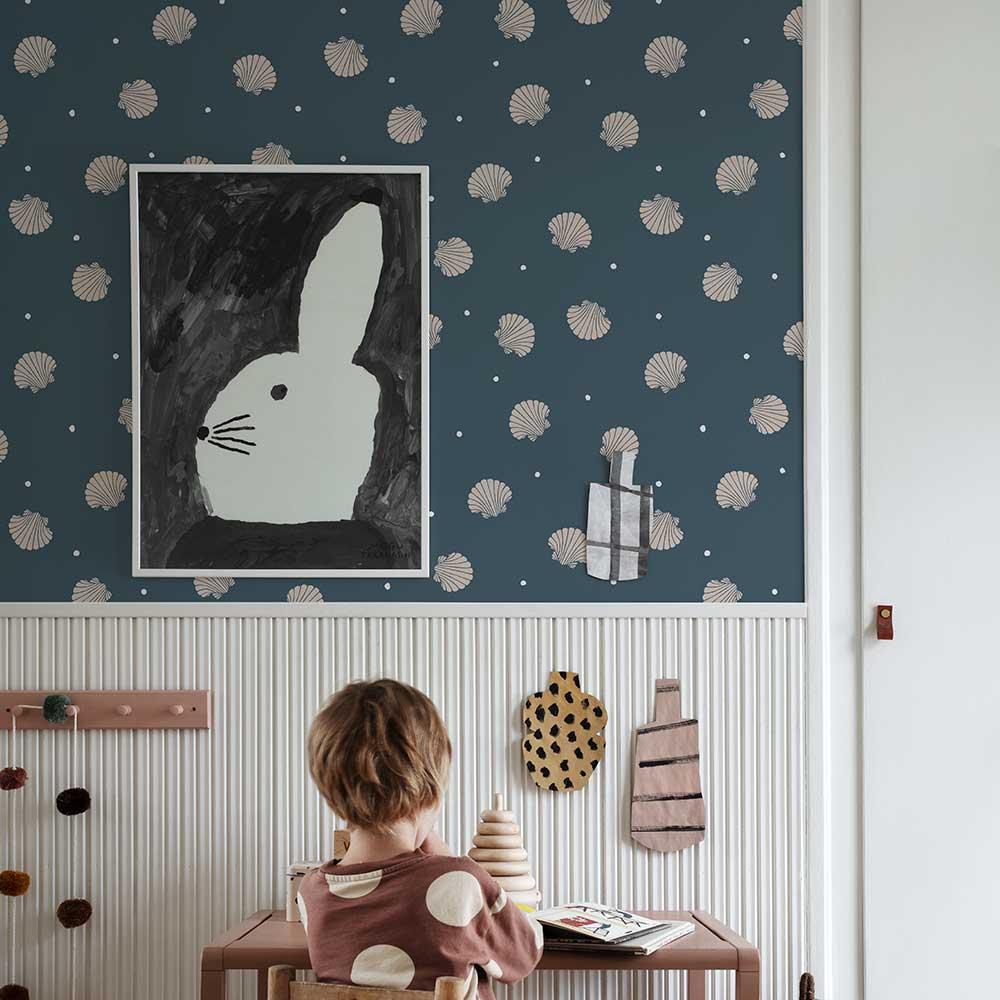 Rio Wallpaper - Dark Blue - by Sandberg