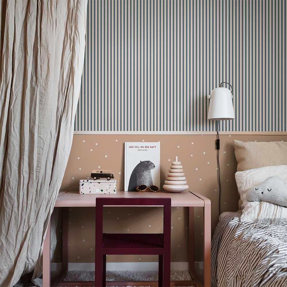 Estelle Wallpaper - Dark Blue - by Sandberg