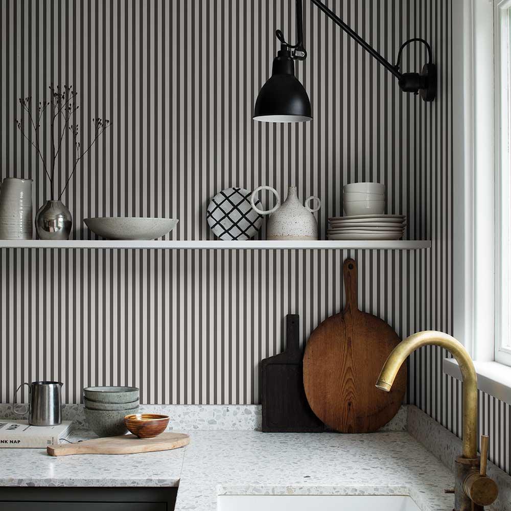 Estelle Wallpaper - Graphite - by Sandberg