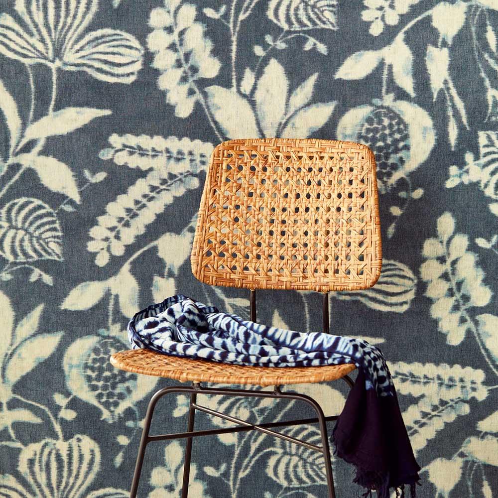 Garden Trail Wallpaper - Indigo - by Eijffinger