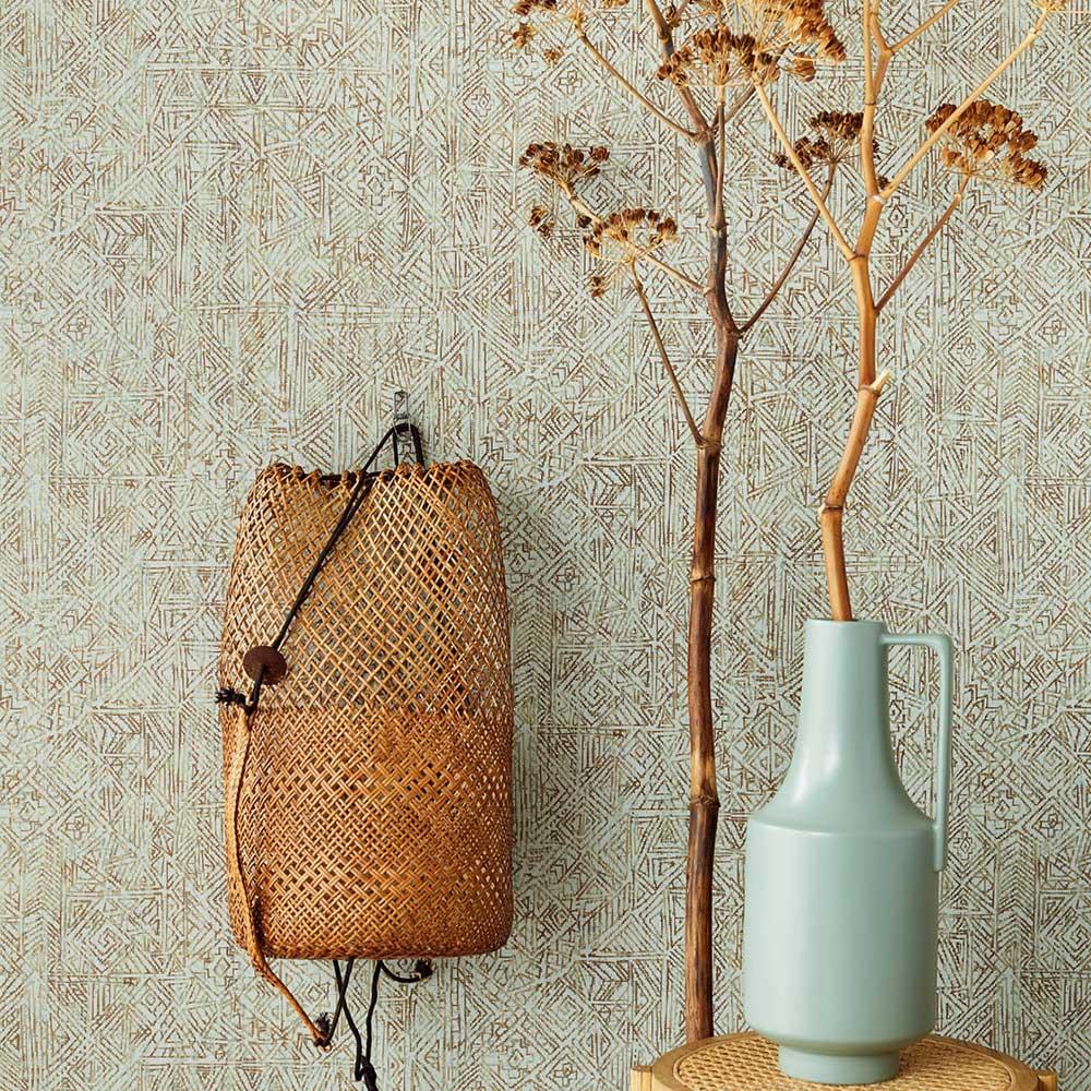 Mosaic Wallpaper - Celadon - by Eijffinger