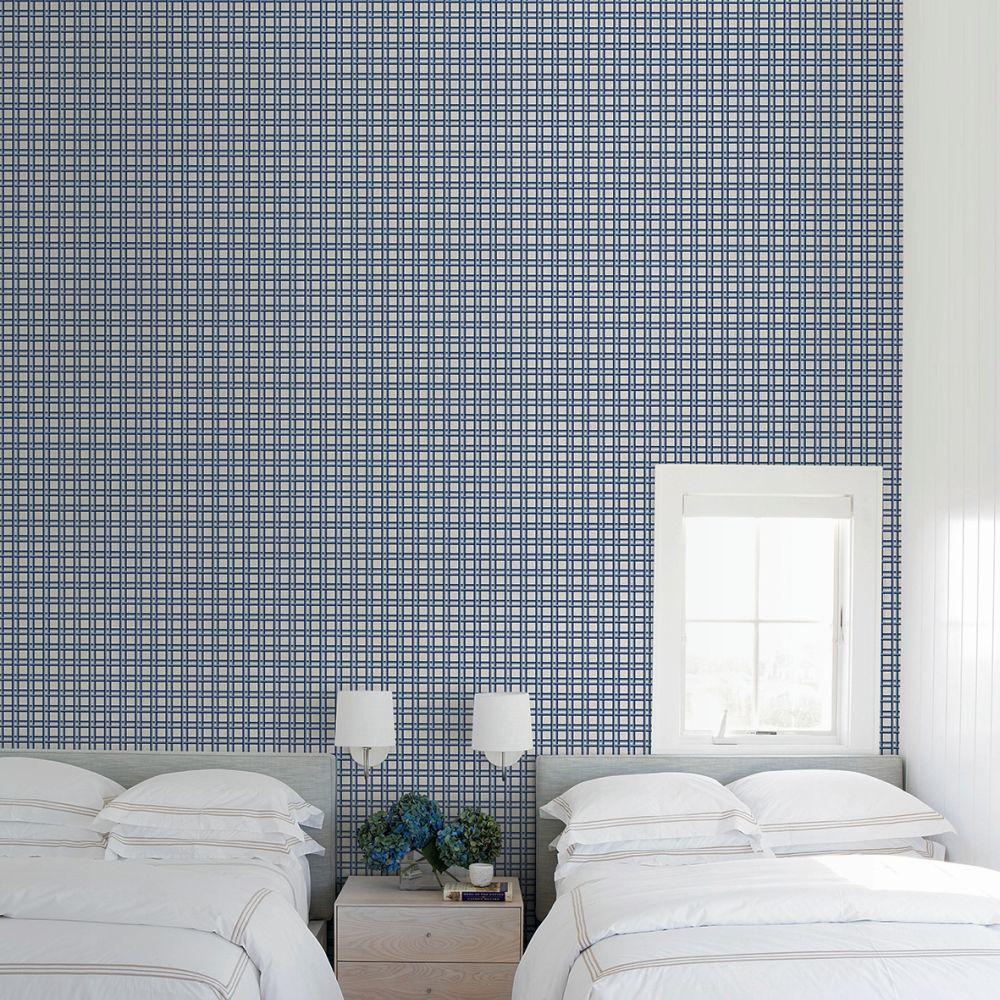 Nus Wallpaper - Navy - by Tres Tintas