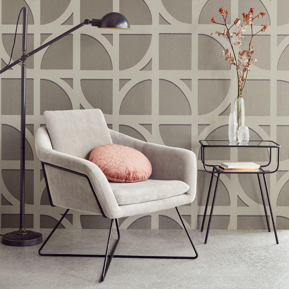 Bold Archi Wallpaper - Brown - by Eijffinger