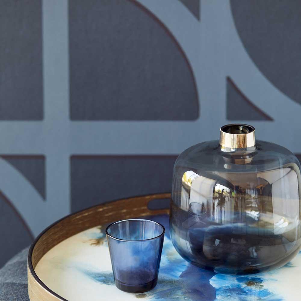 Bold Archi Wallpaper - Blue - by Eijffinger