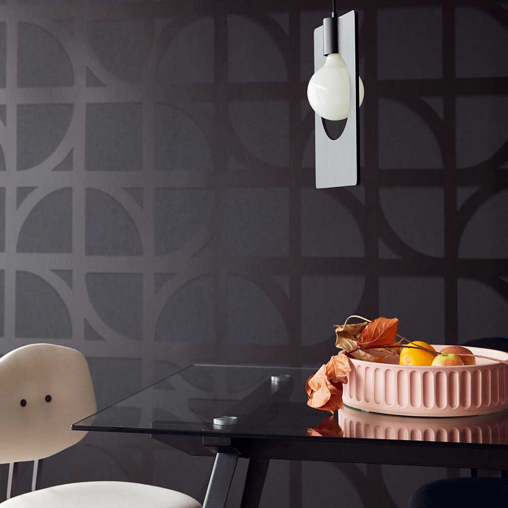 Bold Archi Wallpaper - Black - by Eijffinger