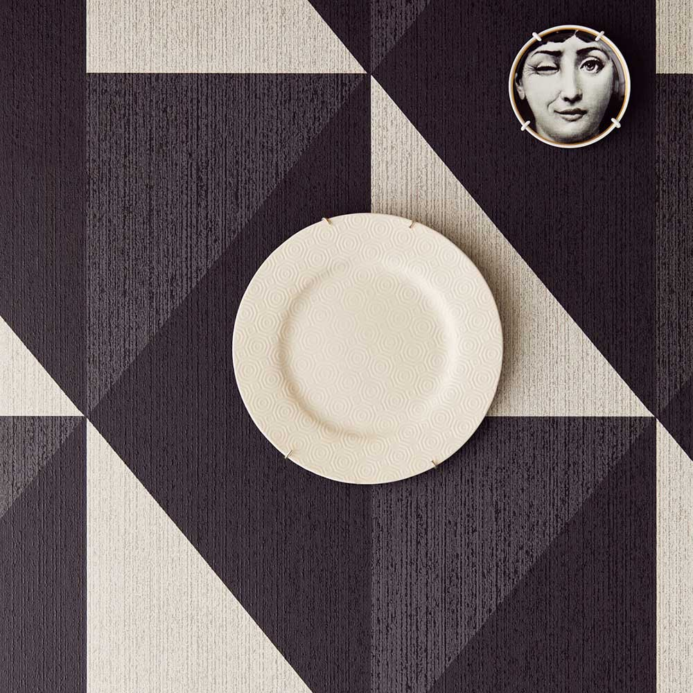 Bold Diamond Wallpaper - Grey - by Eijffinger