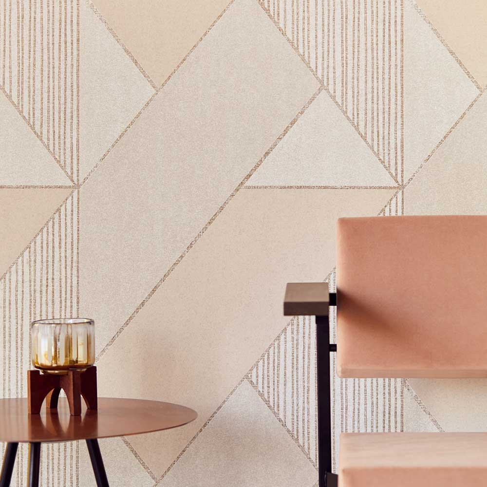 Bold Art Deco Wallpaper - Pink - by Eijffinger
