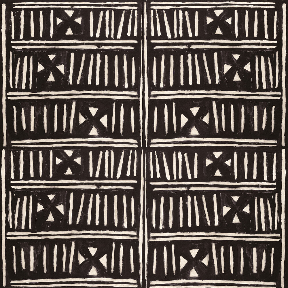Bogolanfini Fabric - Black / White - by Mind the Gap
