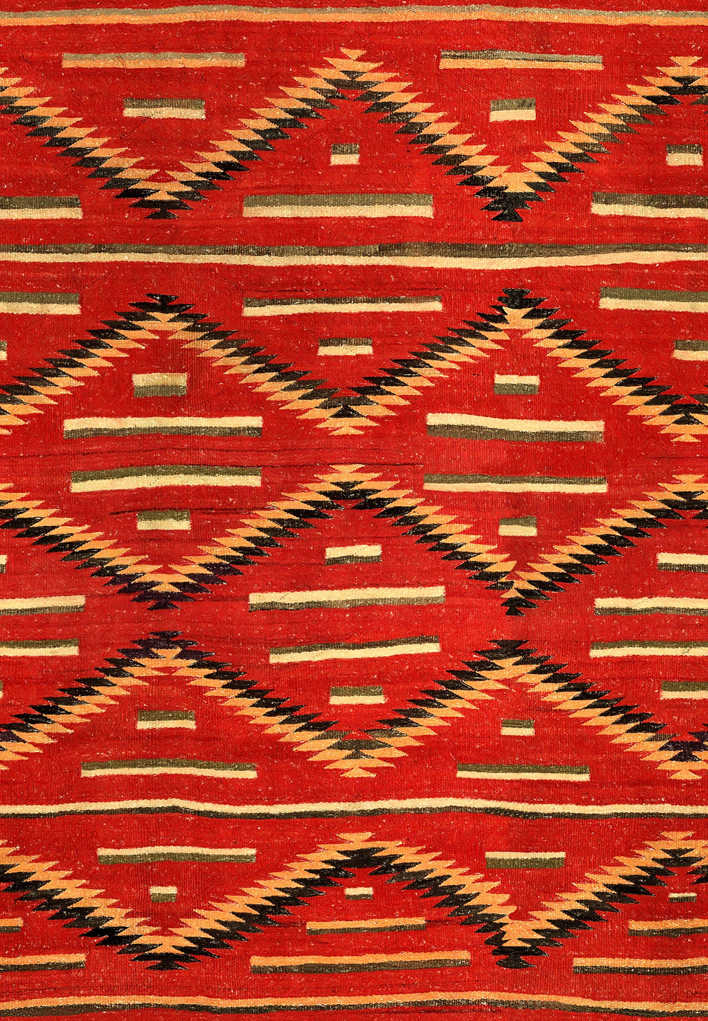 Eyedazzler Navajo Fabric - Red / Yellow / Black - by Mind the Gap