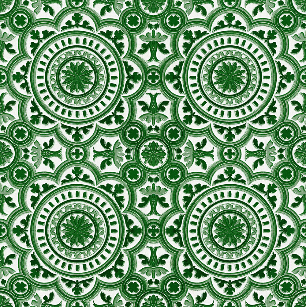 The Manor Fabric - Green / White - by Mind the Gap