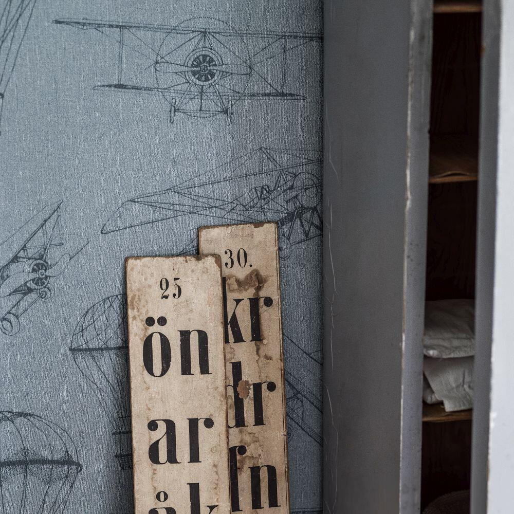 Boråstapeter Bon Voyage  Pale Blue Wallpaper - Product code: 7456