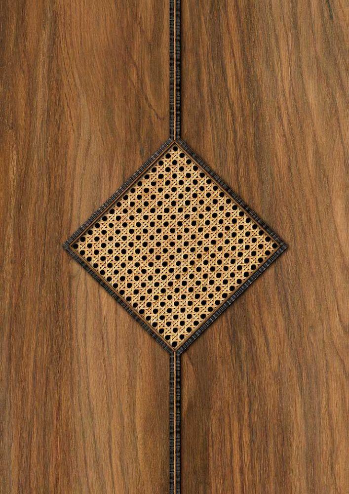 Diamond Webbing Wallpaper - Oak - by NLXL