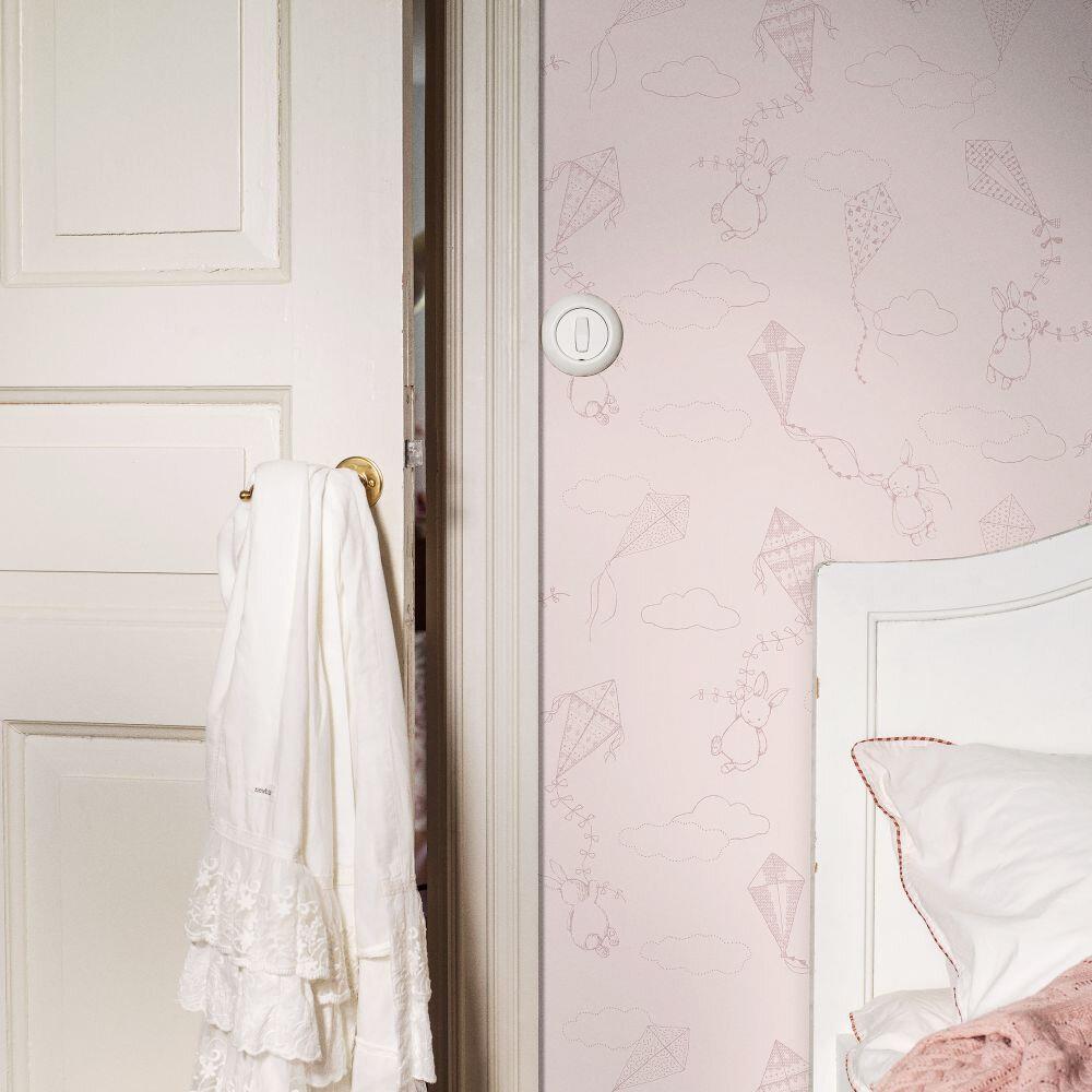 Up & Away Wallpaper - Light Pink - by Boråstapeter