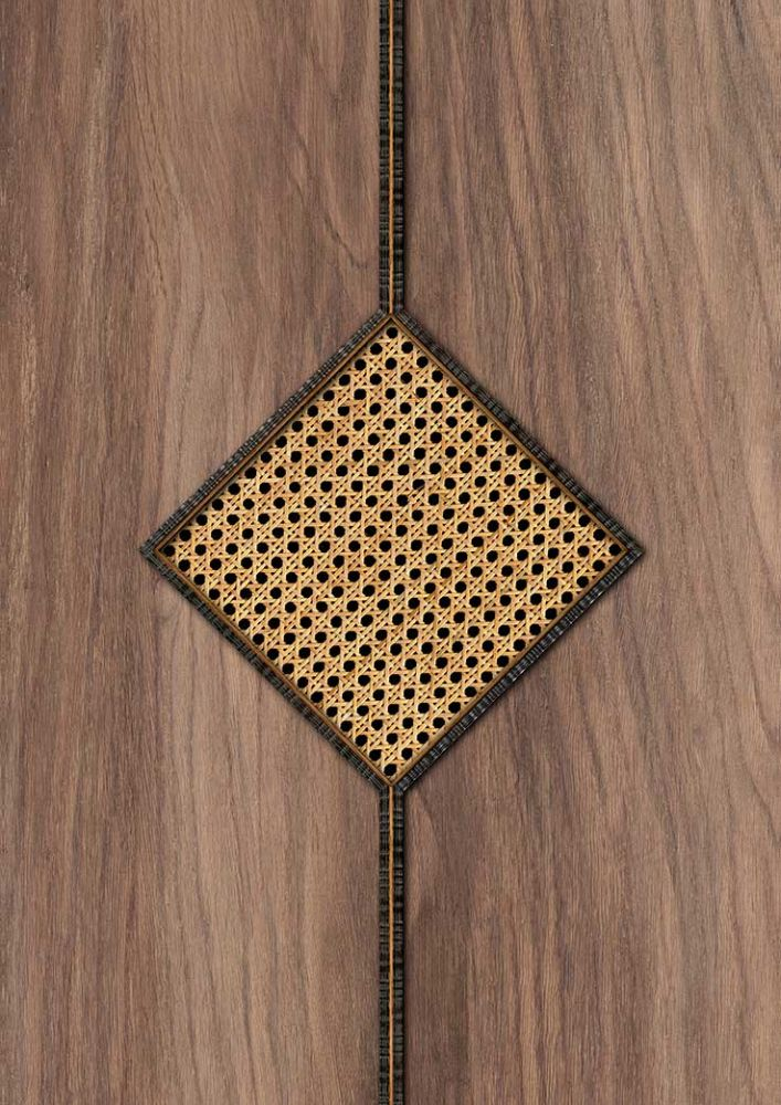 Diamond Webbing Wallpaper - Maple - by NLXL