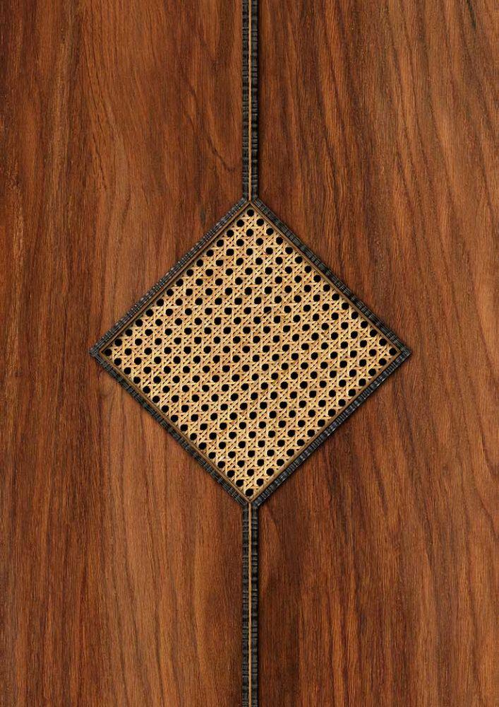 Diamond Webbing Wallpaper - Mahogany - by NLXL