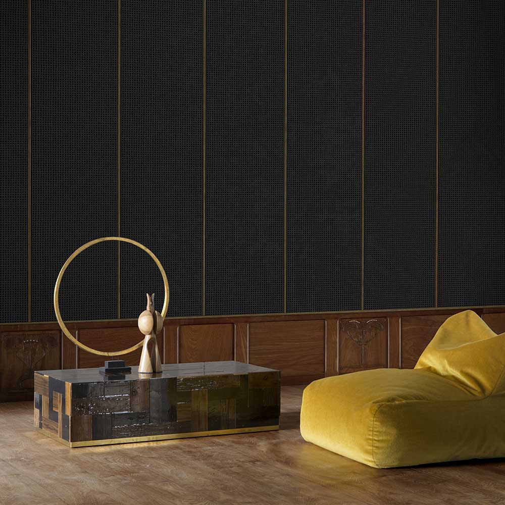 Wainscoting Wallpaper - Brown - by NLXL