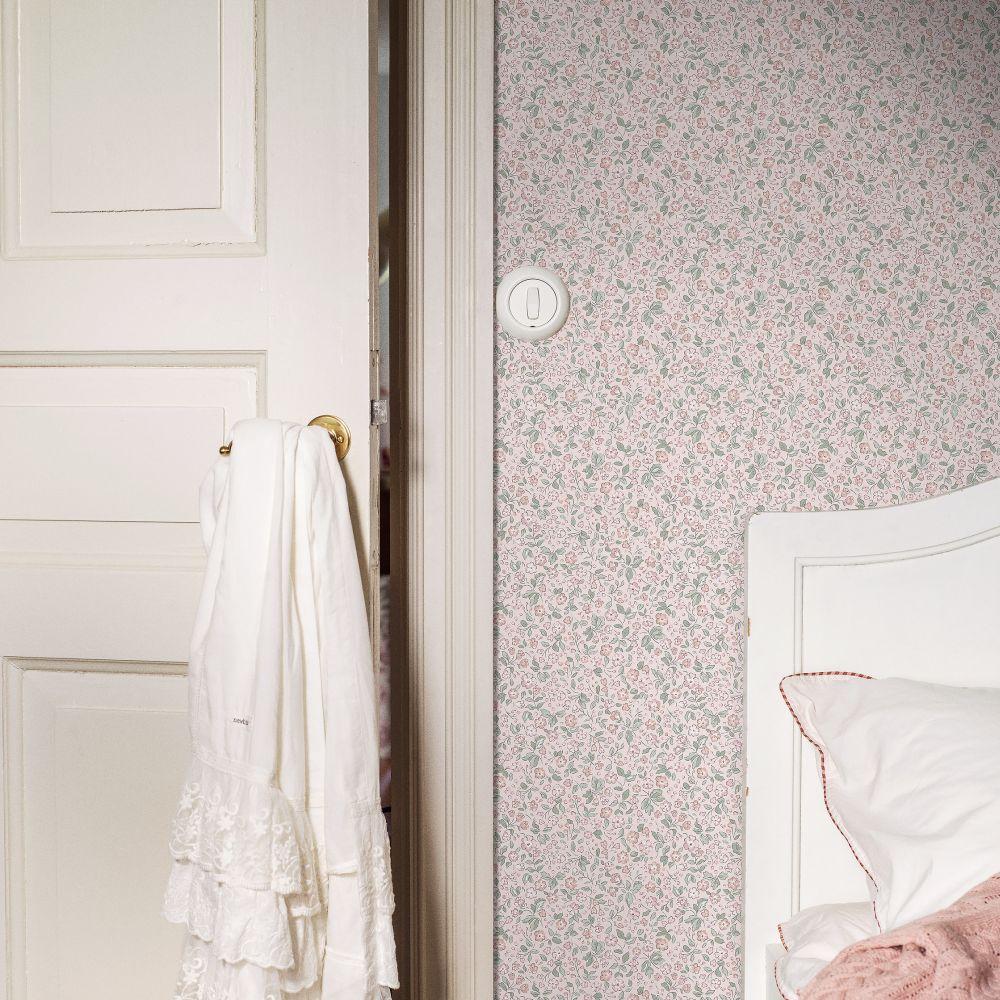 Jasmine Wallpaper - Light Pink - by Boråstapeter