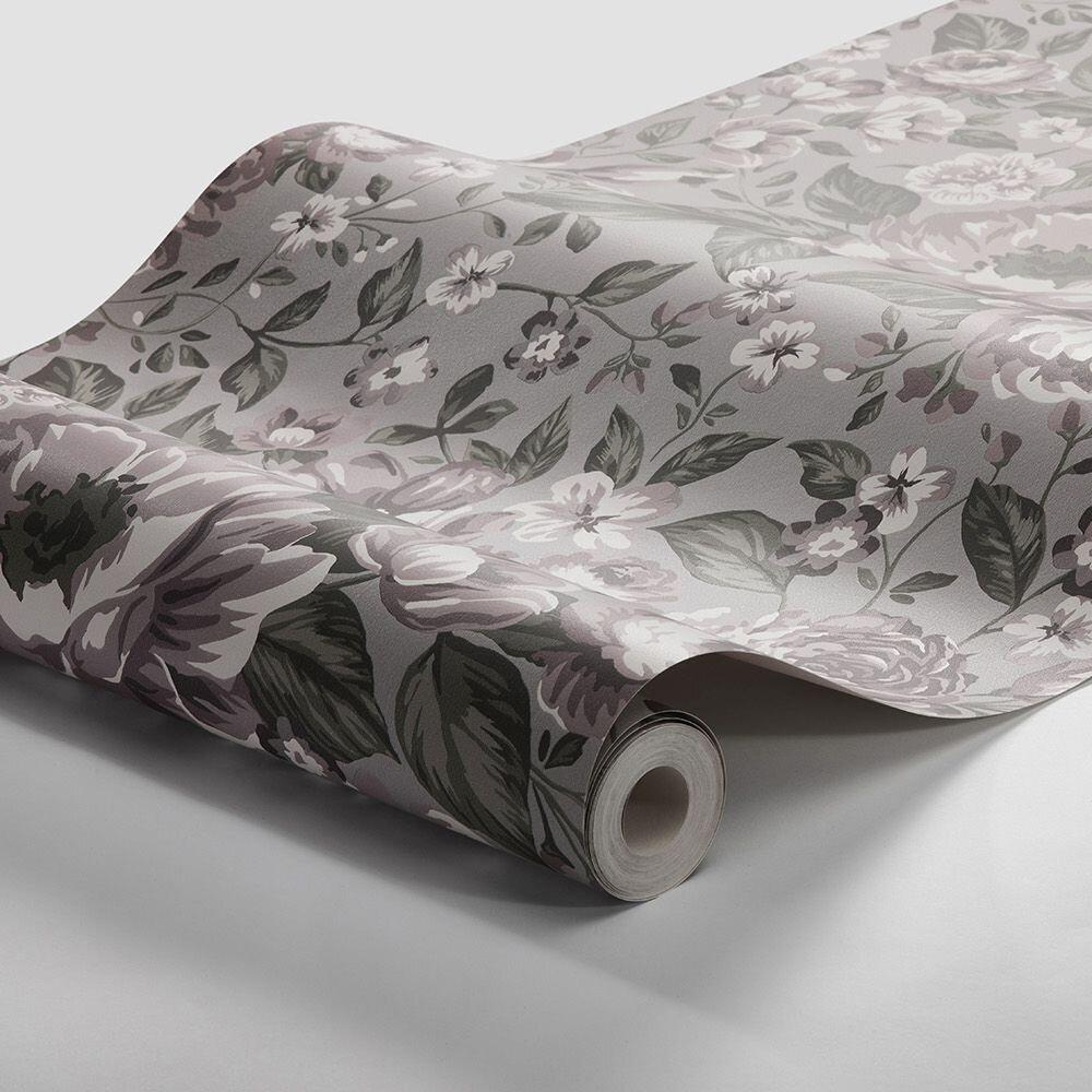 Boråstapeter Rosie Grey Purple Wallpaper - Product code: 7472