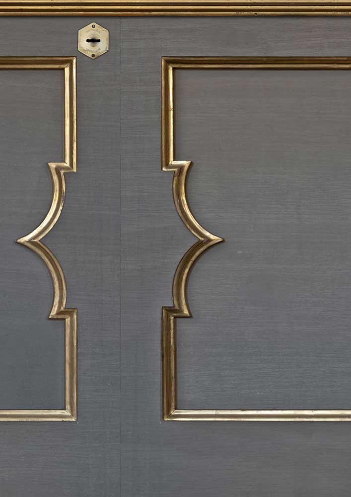 Wainscoting Wallpaper - Grey - by NLXL