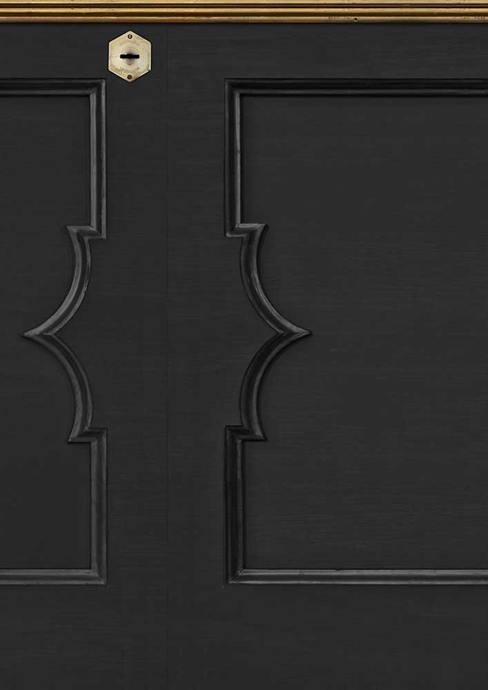 Wainscoting Wallpaper - Black - by NLXL