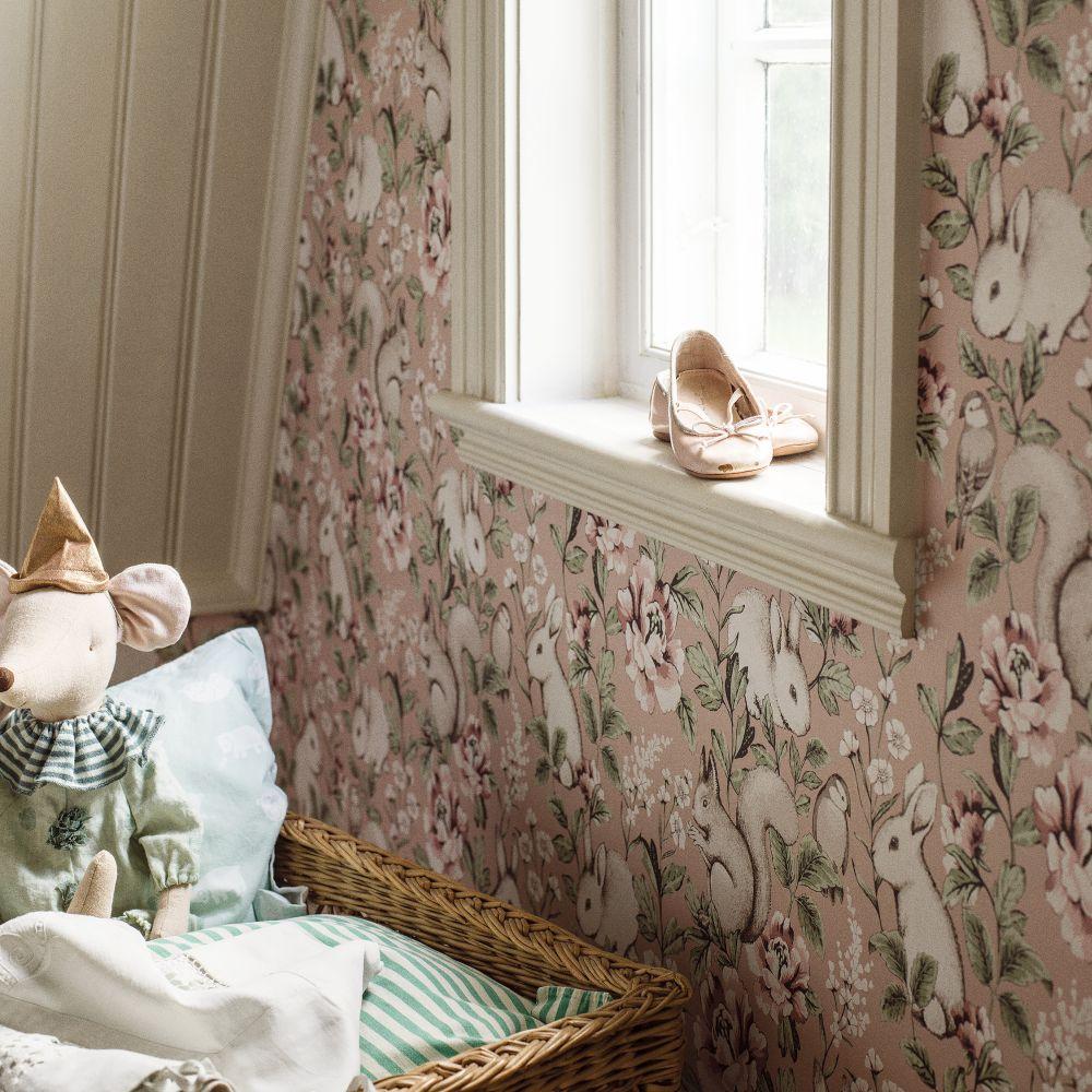 Magic Forest Wallpaper - Blush - by Boråstapeter