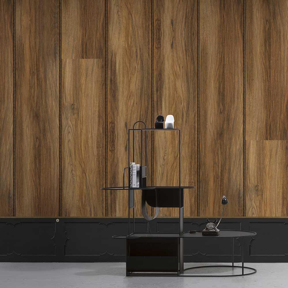 Wood Panel Wallpaper - Oak - by NLXL
