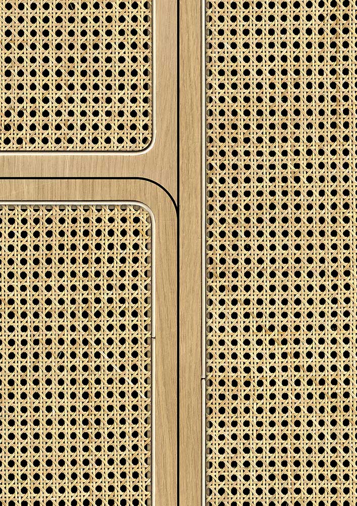 Angle Webbing Wallpaper - Maple - by NLXL
