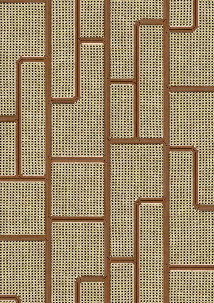 Angle Webbing Wallpaper - Mahogany - by NLXL
