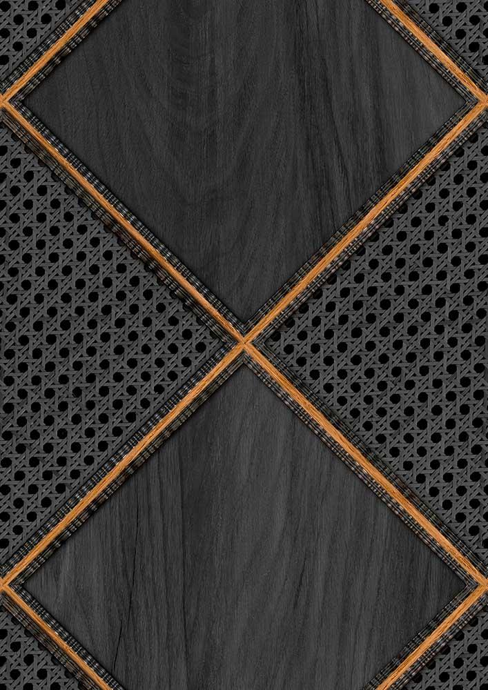 Webbing & Wood Wallpaper - Black - by NLXL