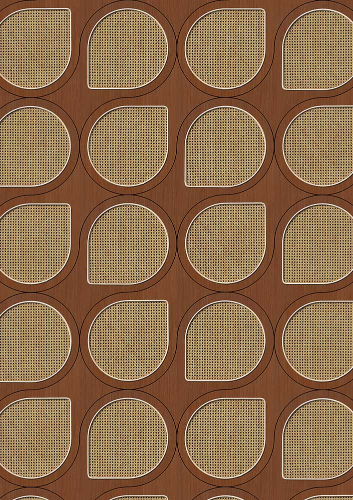 Drops Webbing Wallpaper - Mahogany - by NLXL