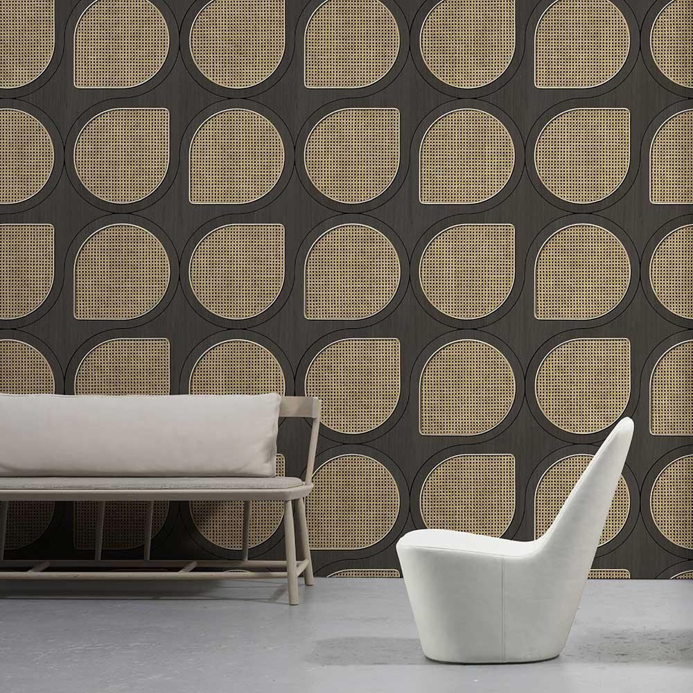 Drops Webbing Wallpaper - Grey - by NLXL