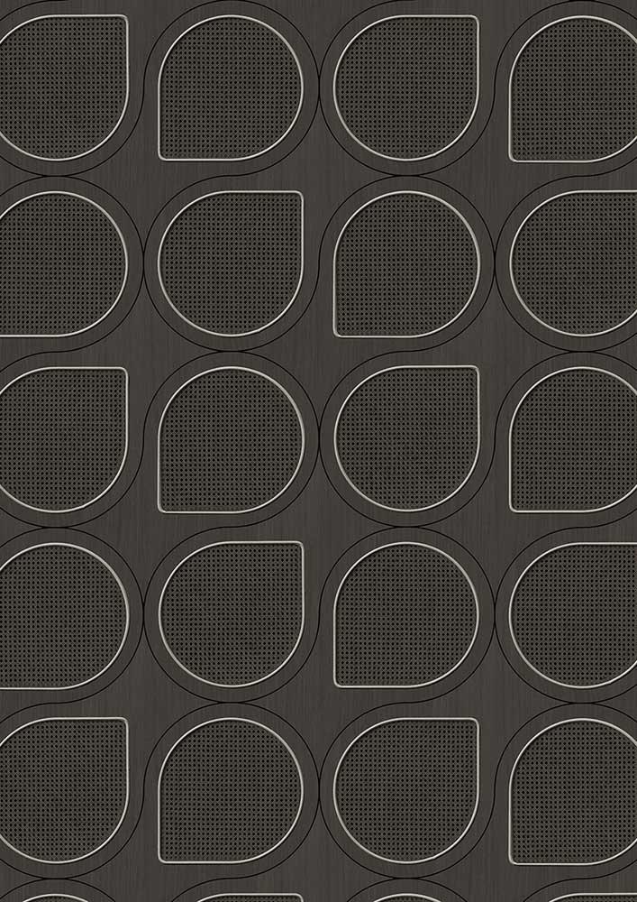 Drops Webbing Wallpaper - Black - by NLXL
