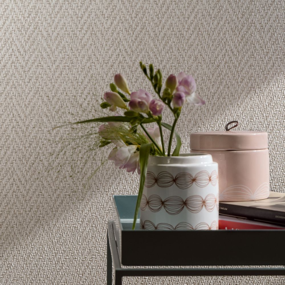 Weave Wallpaper - Cream - by Galerie