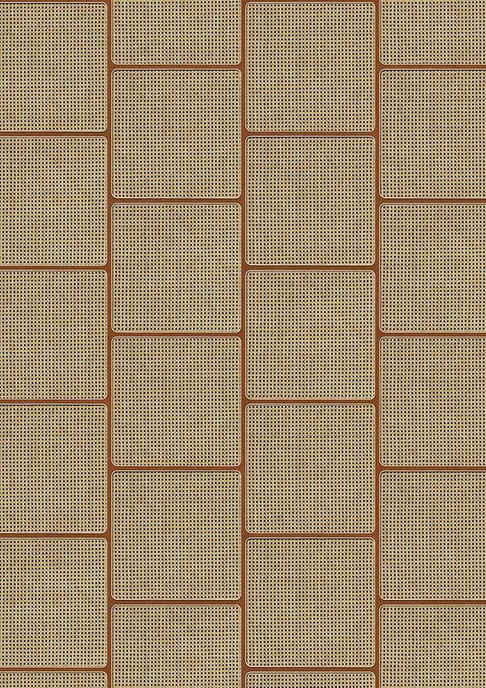 Square Webbing Wallpaper - Mahogany - by NLXL